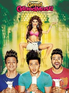 Great Grand Masti Hindi Movie Online - Vivek Oberoi, Ritesh Deshmukh, Aftab Shivdasani and Urvashi Rautela. Directed by Indra Kumar. Music by Sanjeev Darshan. 2016 [A] ENGLISH SUBTITLE