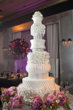 Frosted Art Over the Top Wedding Cakes Todd Events Fred Marcus Photography Extravagant Wedding Cakes, Tall Wedding Cakes, Elegant Wedding Cakes, Beautiful Wedding Cakes, Gorgeous Cakes, Pretty Cakes, Amazing Cakes, Crazy Wedding Cakes, Trendy Wedding