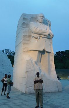 At the Martin Luther King Jr. Memorial in Washington, D.C.