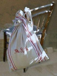 vintage linen bag