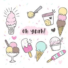 Free Ice Cream Graphics - Free Pretty Things For You - Kritzeleien - Yummy Eis Draw Ice Cream, Ice Cream Art, Ice Cream Theme, Ice Cream Sketch, Ice Cream Sign, Cute Food Drawings, Doodle Drawings, Doodle Art, Easy Drawings
