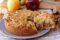 Apple and cinnamon CRUMBLE - SBRICIOLATA DI MELE e cannella ricetta torta facile veloce