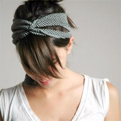 Super easy criss-cross headband