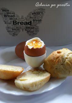 """Pszenne bułeczki """"śniadaniowe"""" Dairy, Eggs, Cheese, Breakfast, Food, Morning Coffee, Essen, Egg, Meals"""