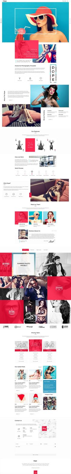 Buy Dope - Creative Photography Portfolio PSD Template by wwwebinvader on ThemeForest. Dope is Creative Responsive Photography Portfolio Template, is grear sollution if you like a clean and modern design. Website Design Inspiration, Layout Inspiration, Web Layout, Layout Design, Design Responsive, Web Design Agency, E-mail Marketing, Ui Web, Best Web Design