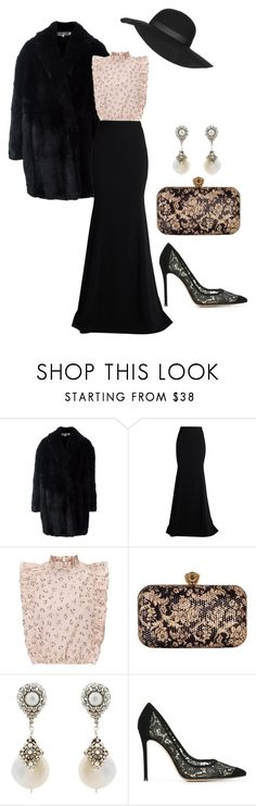 """""""Без названия #49"""" by treskova ❤ liked on Polyvore featuring Alexander McQueen, Roland Mouret, Chesca, Miguel Ases, Gianvito Rossi and Topshop"""