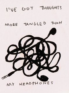 More tangled then my headphones.