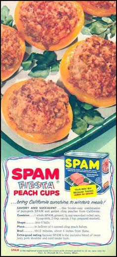 SPAM Fiesta Peach Cups FAMILY CIRCLE 02/01/1956 p. 43