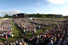 Huge crowds gathered into Longleat to watch Sir Elton John perform.