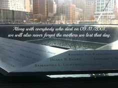 We will never forget the mothers who we lost on 9/11/2001.  We love and appreciate them! September 11, 2001 #NeverForget