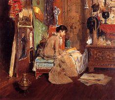 The Studio Corner - William Merritt Chase, 1882, Impresssionism, Canajoharie Library and Art Gallery, USA