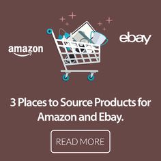 Learn 3 places to source products for selling on #Amazon and #EBay. Keep your #Ecommerce business running all year long.