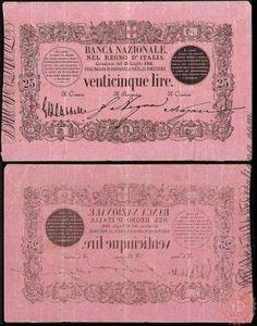25 LIRE - 1866 1869