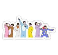 Bts Cartoon stickers featuring millions of original designs created by independent artists. Pop Stickers, Cartoon Stickers, Tumblr Stickers, Printable Stickers, Bts Tattoos, Korean Stickers, Kpop Diy, K Pop, Bts Drawings