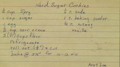 Hard Sugar Cookies | From my mom's recipe collection. | Phil! Gold | Flickr