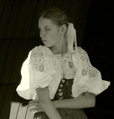 Heart Of Europe, Folk Costume, Vintage Beauty, Anton, Fashion History, Folk Art, Ruffle Blouse, Lace, Kimono