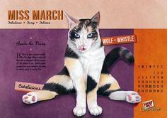 Cat Pin-Up Posters - The Jupiter Drawing Room Presents Saucy Felines (GALLERY)