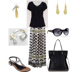 Maxi skirt... by rkimball on Polyvore