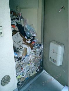 ゴミ屋敷玄関片付け前
