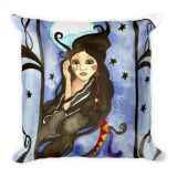 Beautiful and mysterious Kuutar The Moon Goddess All-Over Print Basic Pillow. In Finnish mythology Kuutar is the goddess of the moon. Click image for more info.