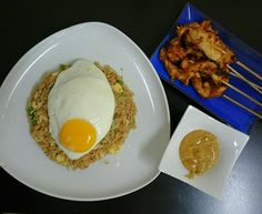 Nasi Goreng and Chicken Satay - Delicious DXB