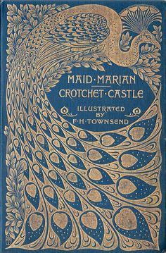 Utilizing the decorative elements of art nouveau styling, this 1895 book cover showcases a beautiful marriage of Art Nouveau and the Arts and Crafts movement.