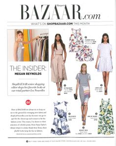 Tibi Spring '14 Runway Blush look featured in the April issue of Harper's Bazaar