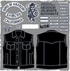 soa patches | Make Your Own Sons of Anarchy Leather Cut Vest