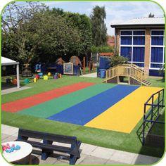 Rainbow Playground Surfacing -  Soft Surfaces Ltd http://www.softsurfaces.co.uk/