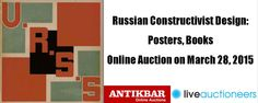 Auction Today (28 March, 9am PT/4pm UK): Russian Constructivist Design. Specialised auction of original vintage posters, books, magazines & graphic design by the masters of Soviet Constructivism: Rodchenko, the Stenberg Brothers, Lissitsky, Klutsis & others. Visit www.liveauctioneers.com/catalog/68124_russian-constructivist-design-posters-books/page1 to view our full catalogue & register to bid. We offer worldwide shipping. www.AntikBar.co.uk