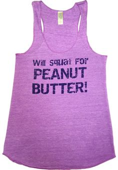 Peanut Butter Tank! Workout clothing by Abundant Heart Apparel