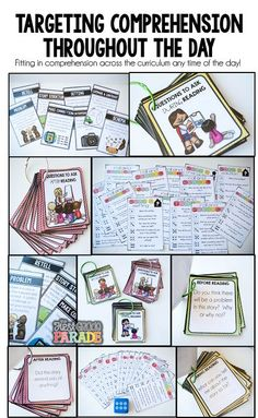 Reading Comprehension activities perfect for use ANY time of the day!!!