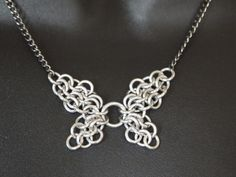 Silver Butterfly / Fairy Chainmaille Necklace by StreetMaille