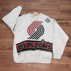 Vintage Portland Trail Blazers Crewneck Sweatshirt by VNTGvault on Etsy