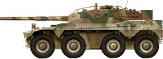 The Rooikat development started back in the as a wheeled tank to replace the Ferret armored car used against Angola. Military Drawings, Tank Armor, Defence Force, Armored Fighting Vehicle, Fire Powers, Military Photos, Military Equipment, Armored Vehicles, War Machine