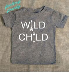 SALE Grey Infant Toddler WILD CHILD shirt hippie gypsy shirt born to be free shirt