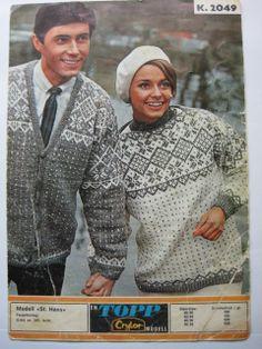 Norwegian Knitting, Drops Design, Knitting Patterns, Knit Crochet, Men Sweater, Sweaters, Cardigans, Retro, Clothes