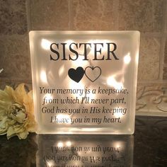 Loss Of A Sister, Condolence Gift, Sympathy Gifts, Funeral Gifts, Memorial Gifts, Memorial Quotes, Memorial Ideas, Remembrance Gifts, Losing Someone