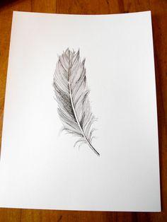 Fine art feather print.