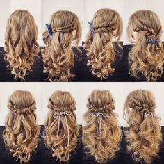 14 Different New Braid Hair Styles, 14 verschiedene neue Zopffrisuren, This image has. Easy Hairstyles For Long Hair, Braided Hairstyles, Wedding Hairstyles, Crazy Hairstyles, Fashion Hairstyles, Hairstyle Ideas, Pretty Hairstyles, Communion Hairstyles, Fall Hairstyles