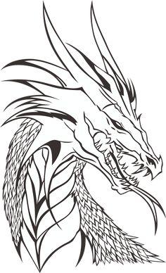 Free Printable Dragon Coloring Pages . 30 Free Printable Dragon Coloring Pages . Free Printable Dragon Coloring Pages for Kids Cool Dragon Drawings, Dragon Sketch, Easy Drawings, Pencil Drawings, Dragon Head Drawing, People Drawings, Dragon Head Tattoo, Drawings Of Dragons, Skyrim Drawing