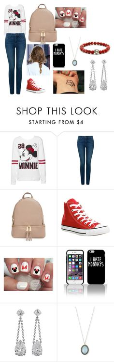 """""""Untitled #128"""" by arianagrande-765 on Polyvore featuring Disney, NYDJ, MICHAEL Michael Kors, Converse and Armenta"""
