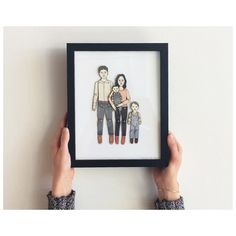 FRAMED Paper Doll Portrait by JordanGraceOwens, based in the US and selling on Etsy