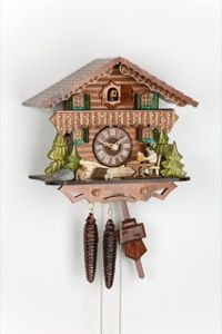 Chalet Cuckoo Clocks Cuckoo Clock 1-day-movement Chalet-Style 24cm by Hekas