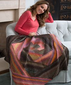 Spiral Crochet Lapghan - Free Crochet Pattern - this could make a great present! (easy level!)