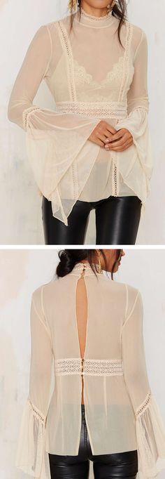 Bell sleeve blouse