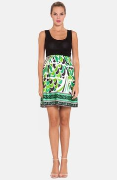 Olian+Print+Skirt+Maternity+Tank+Dress+available+at+#Nordstrom
