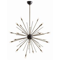 Arteriors Imogene Large Sunburst Chandelier with Vintage Brass Hardware  #lighting #lightfixtures #homedecor #contemporary