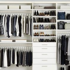 """581 Likes, 7 Comments - The Container Store (@thecontainerstore) on Instagram: """"Turn your #closetgoals into a reality.  #customclosets #closetorganization #organization…"""""""