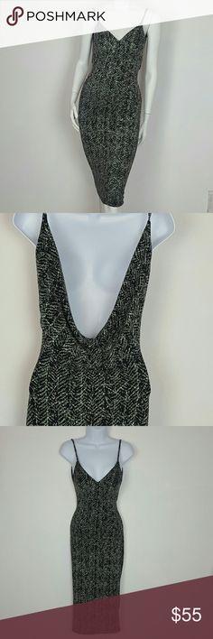 Sheath dress v neck  black silver Sheath dress v neck  black silver  92% Nylon 5% Spandex 3%Metalic Hand Wash cold Dresses Midi